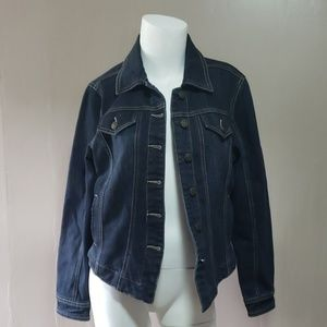 Live a little Denim Jacket Sz Small